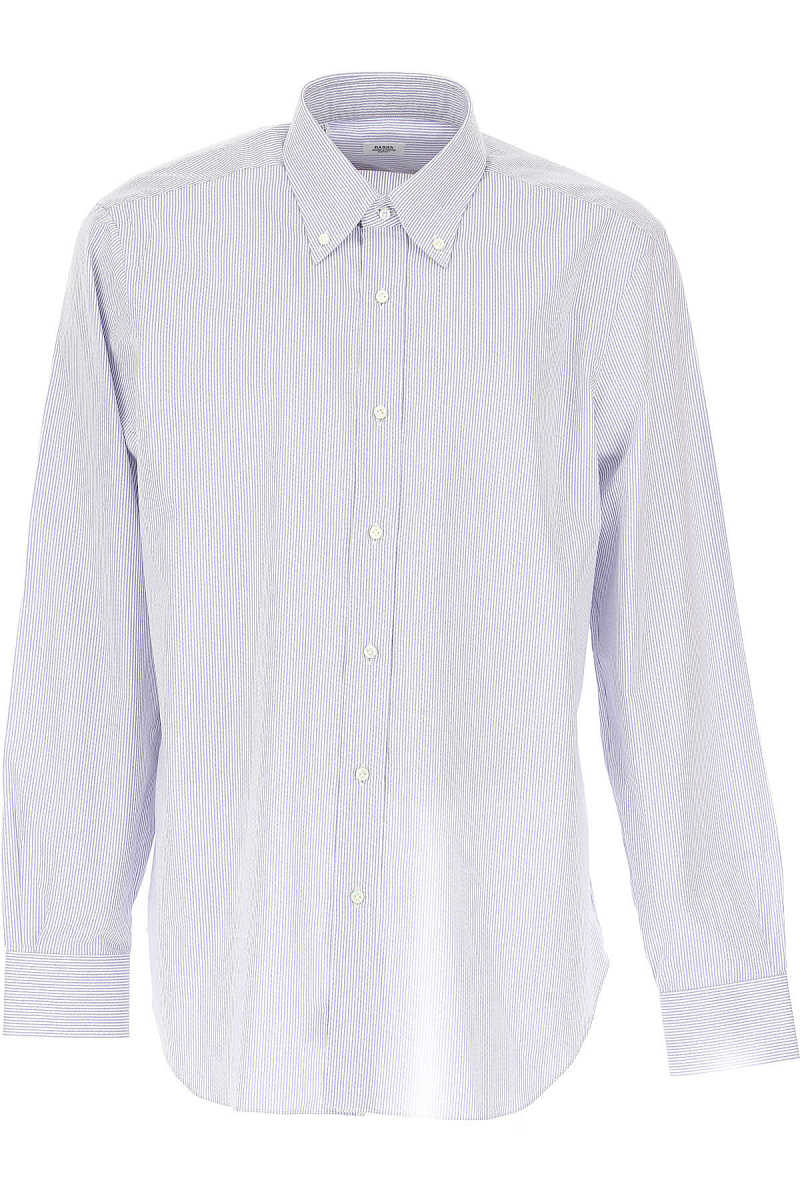 Barba Shirt for Men On Sale Light Blue - GOOFASH