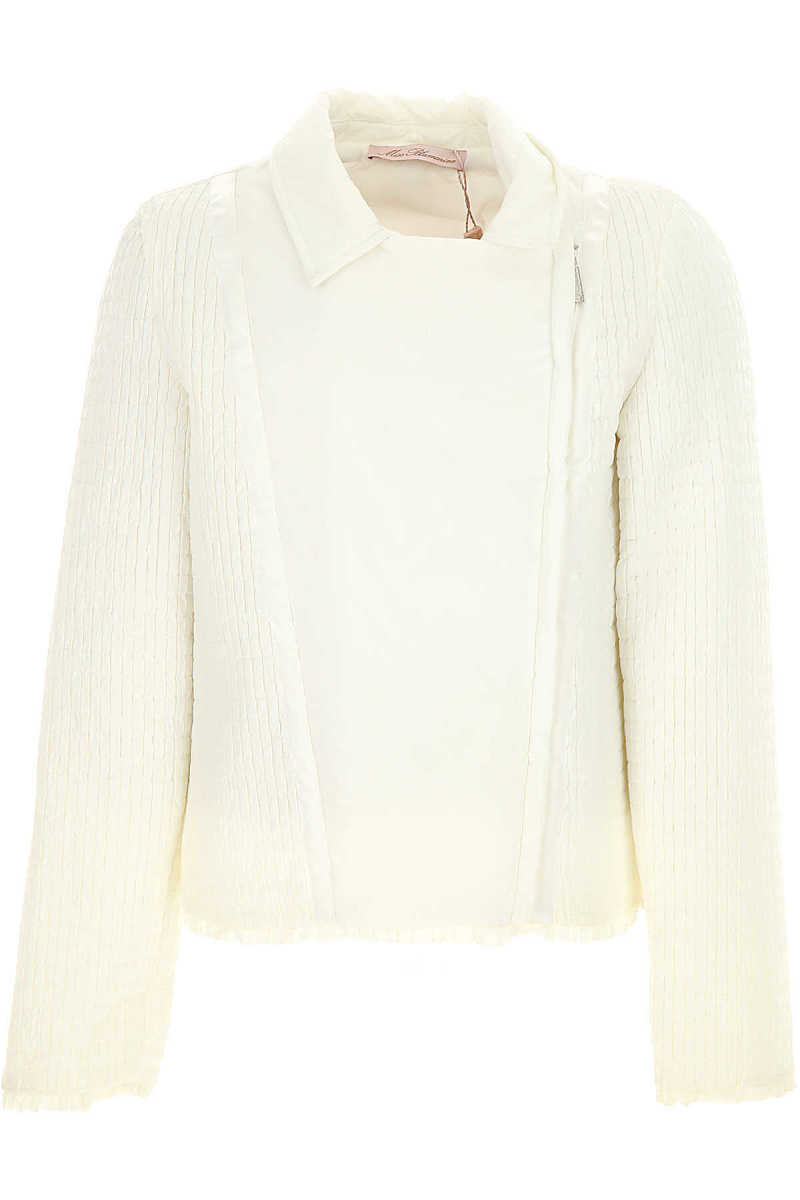 Blumarine Kids Jacket for Girls On Sale in Outlet White - GOOFASH - Womens JACKETS