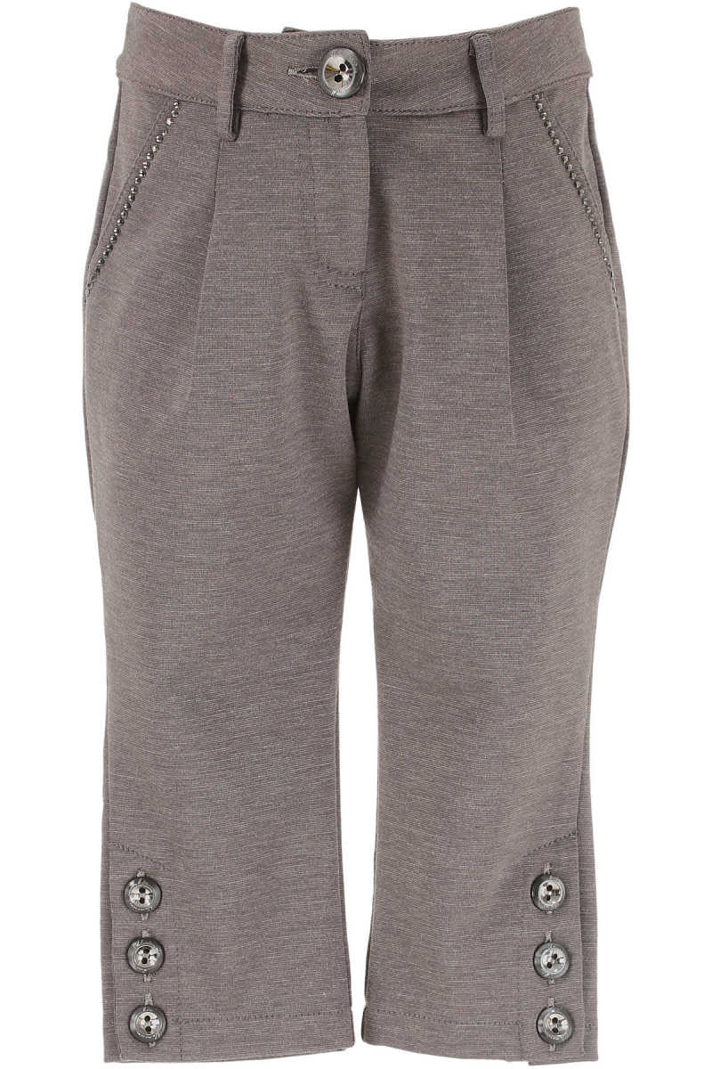 Blumarine Kids Pants for Girls On Sale in Outlet Grey - GOOFASH - Womens TROUSERS