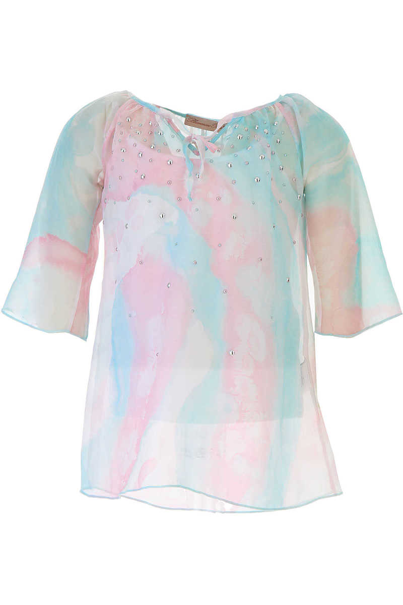 Blumarine Kids Shirts for Girls On Sale in Outlet Sky Blue UK - GOOFASH - Womens SHIRTS