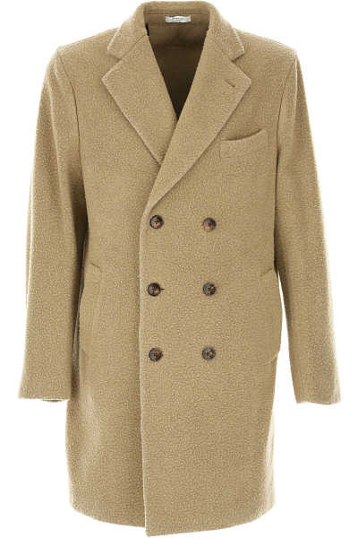 Boglioli Men's Coat Camel - GOOFASH