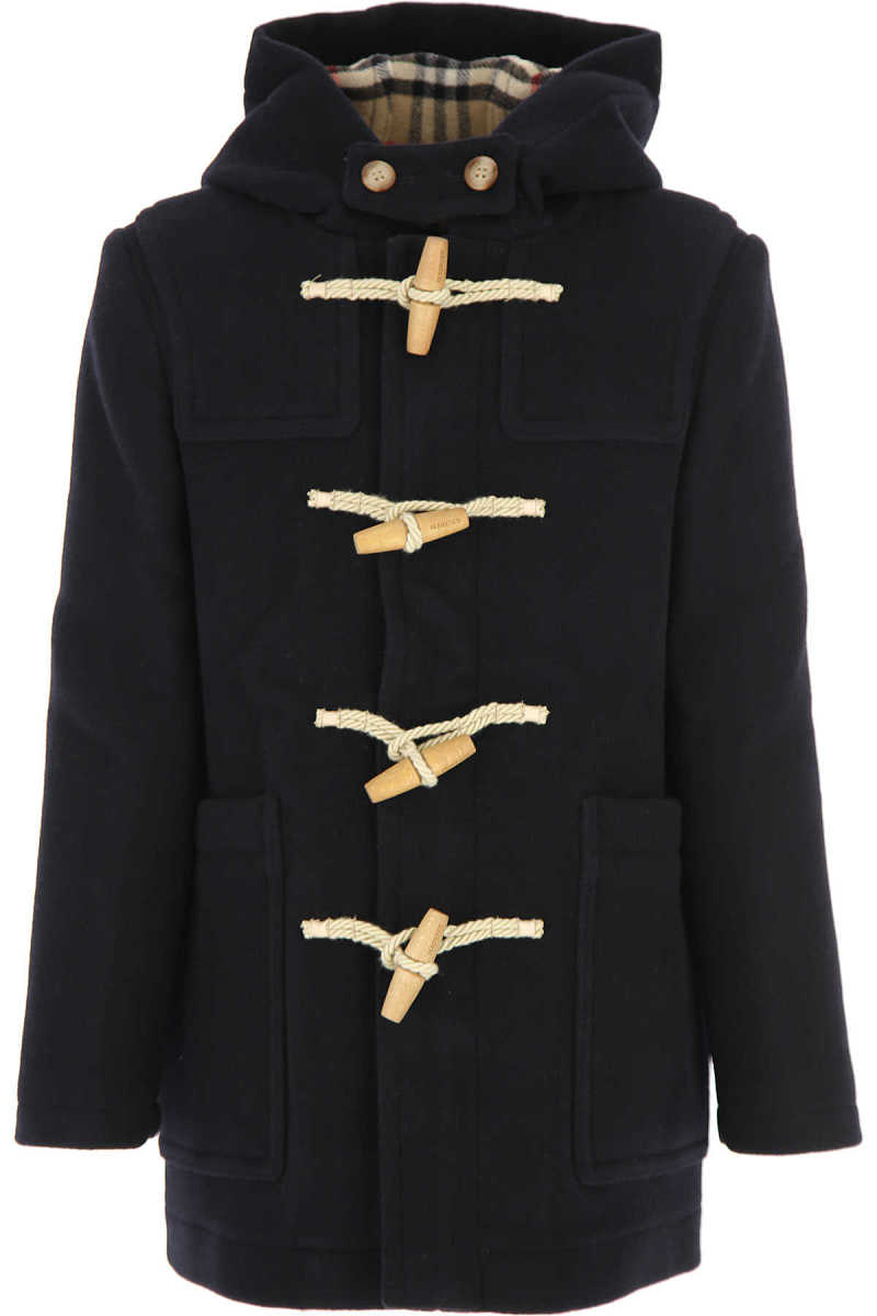 Burberry {DESIGNER} Kids Coat for Boys navy UK - GOOFASH - Mens COATS