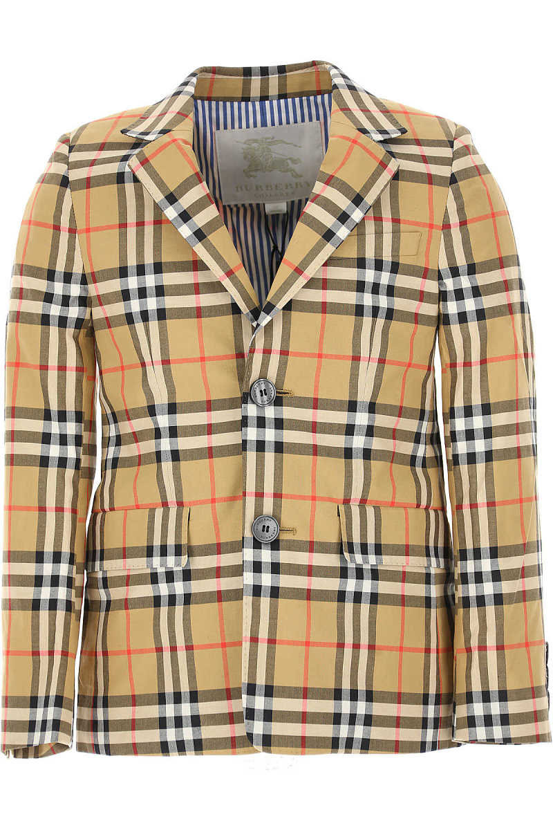 Burberry Kids Blazer for Boys On Sale in Outlet Brown - GOOFASH