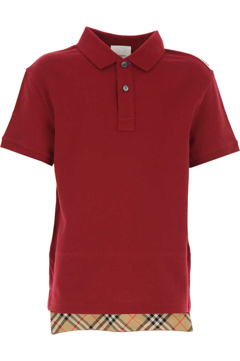 Burberry Kids Polo Shirt for Boys Bordeaux UK - GOOFASH - Mens POLOSHIRTS
