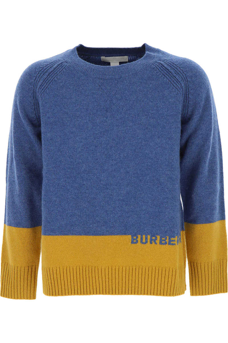Burberry Kids Sweaters for Boys On Sale Dusty Blue - GOOFASH