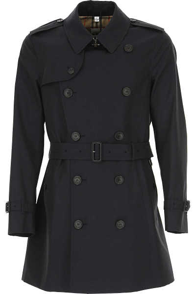 Burberry Men's Coat Midnight Blue - GOOFASH