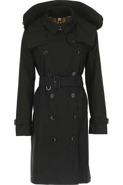 Burberry Women's Coat Black UK - GOOFASH