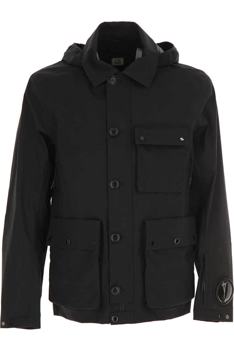 C.P. Company Men's Coat On Sale Black - GOOFASH