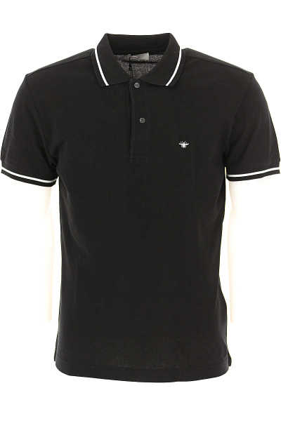 Christian Dior Polo Shirt for Men On Sale Black - GOOFASH