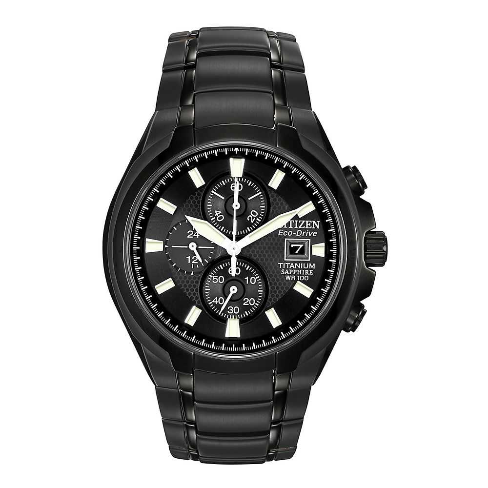 Citizen® Eco-Drive™ Black Titanium Men's Watch - Citizen Eco-Drive USA - GOOFASH - Mens WATCHES