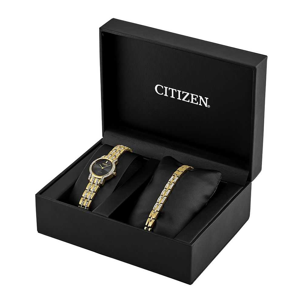 Citizen® Eco-Drive™ Crystal Ladies' Watch Set - Citizen Eco-Drive USA - GOOFASH - Womens WATCHES