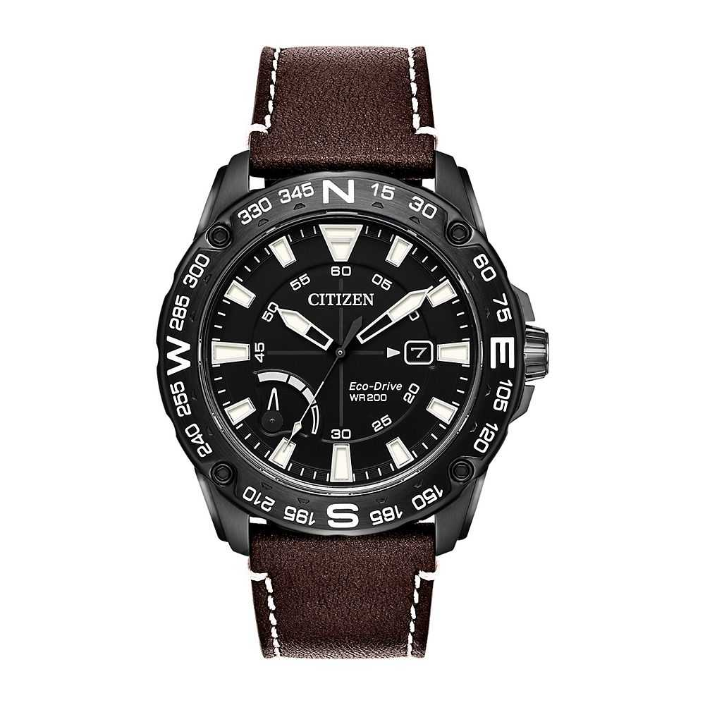 Citizen® Eco-Drive™ PRT Men's Leather Watch - Citizen Eco-Drive USA - GOOFASH - Mens WATCHES