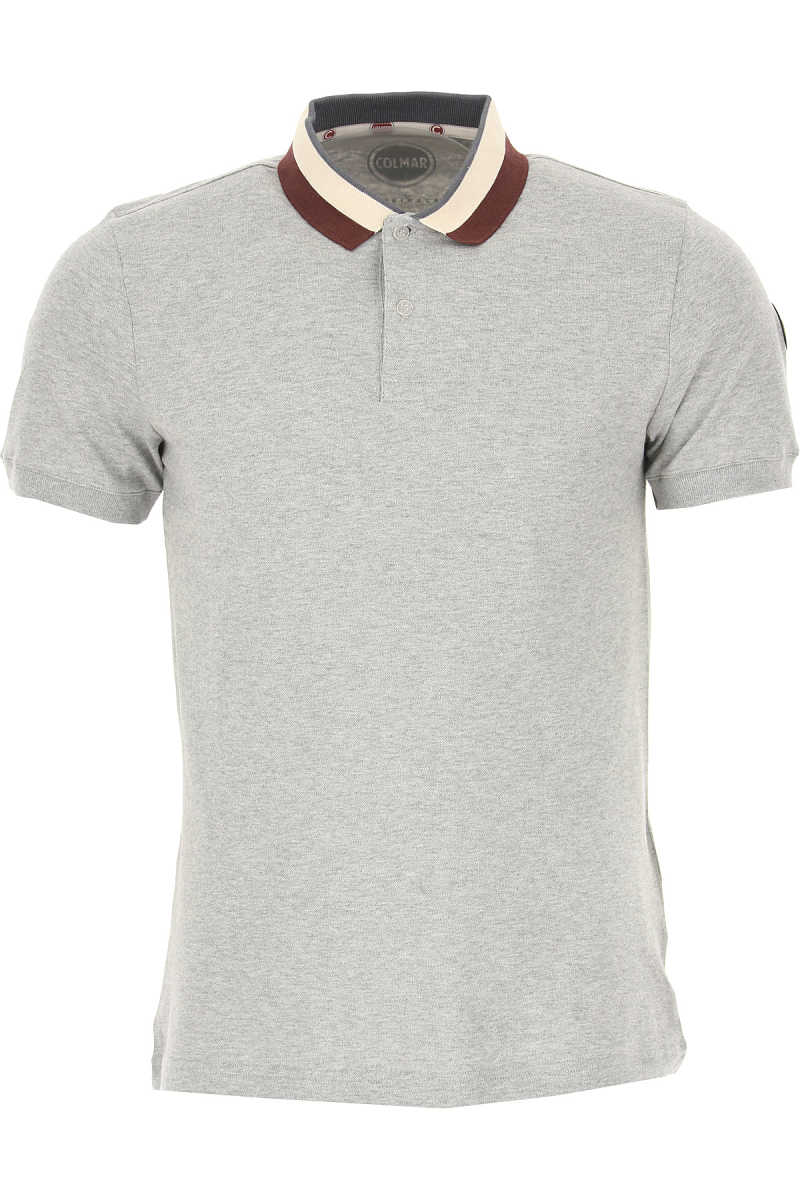 Colmar Polo Shirt for Men On Sale Light Grey - GOOFASH