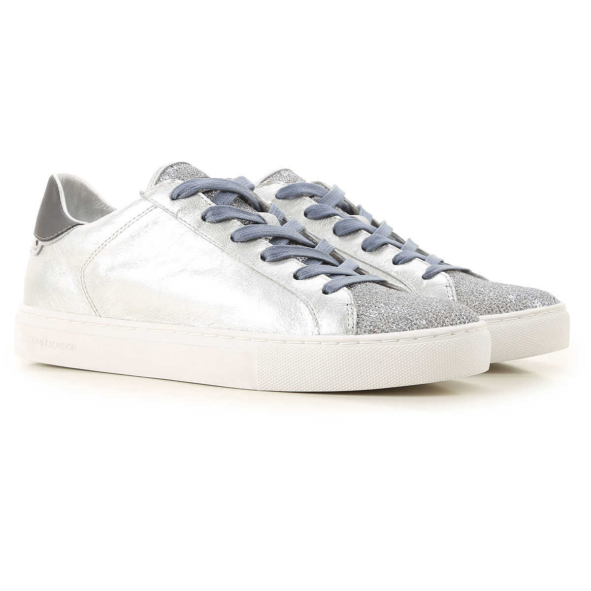 Crime Sneakers for Women On Sale Silver UK - GOOFASH