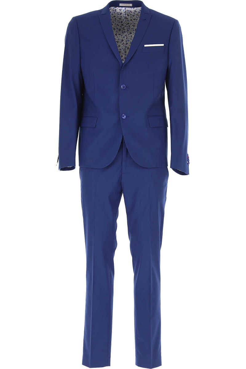 Daniele Alessandrini Men's Suit On Sale Bluette UK - GOOFASH - Mens SUITS