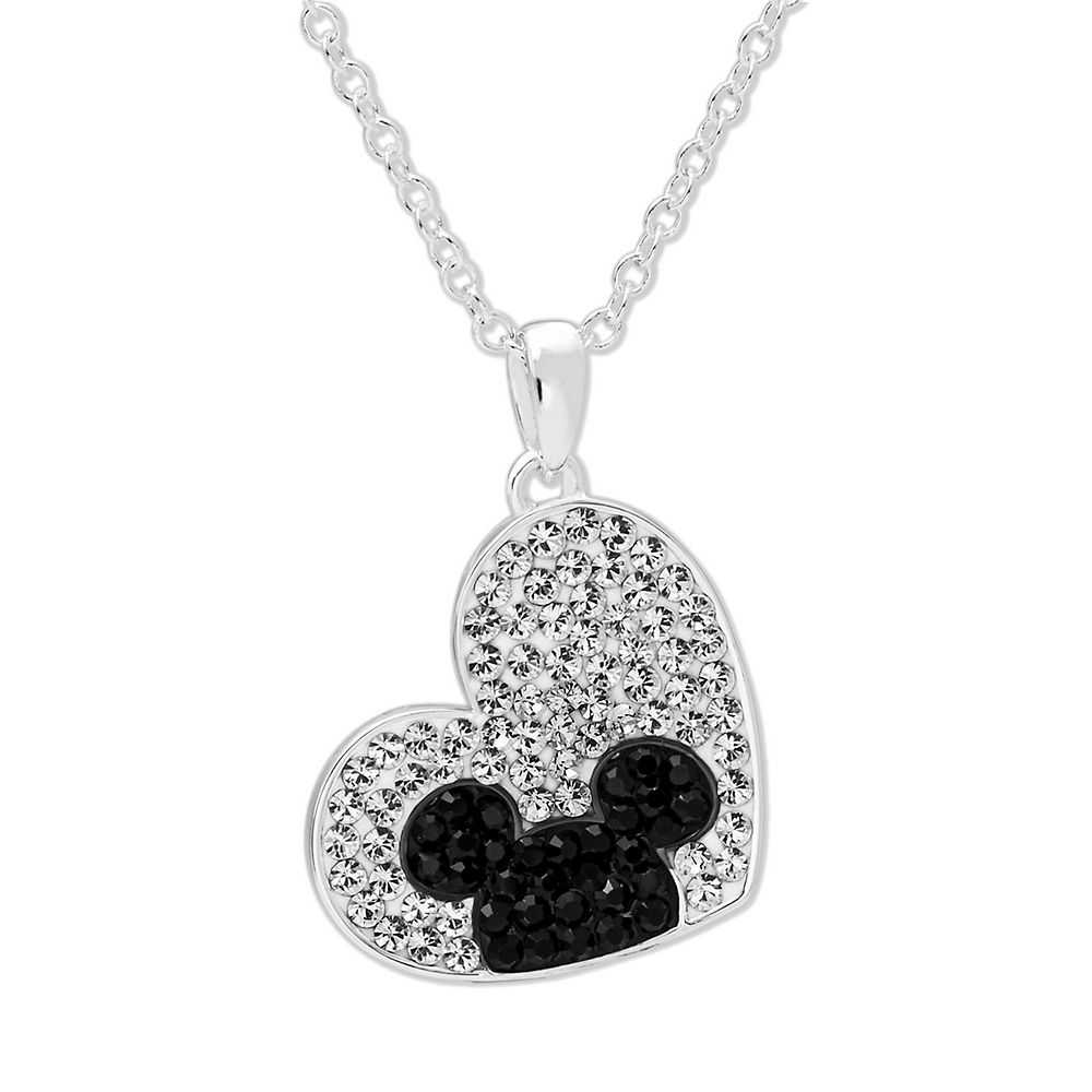 Disney's Mickey Mouse Crystal Heart Pendant in Sterling Silver - Disney USA - GOOFASH - Womens JEWELRY