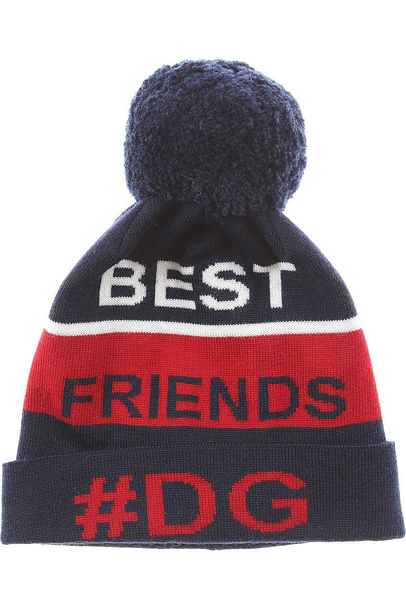 Dolce & Gabbana Kids Hats for Boys On Sale in Outlet Blue - GOOFASH