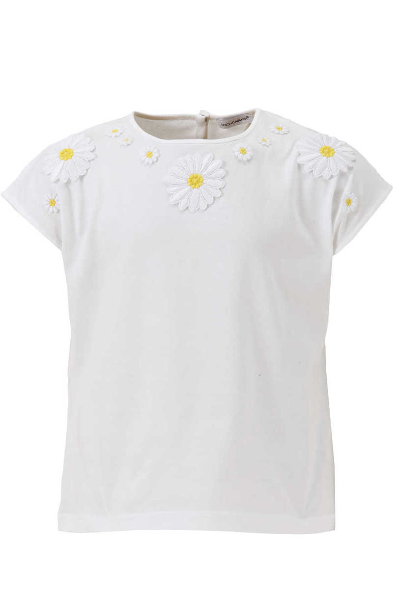 Dolce & Gabbana Kids T-Shirt for Girls On Sale in Outlet White UK - GOOFASH - Womens T-SHIRTS
