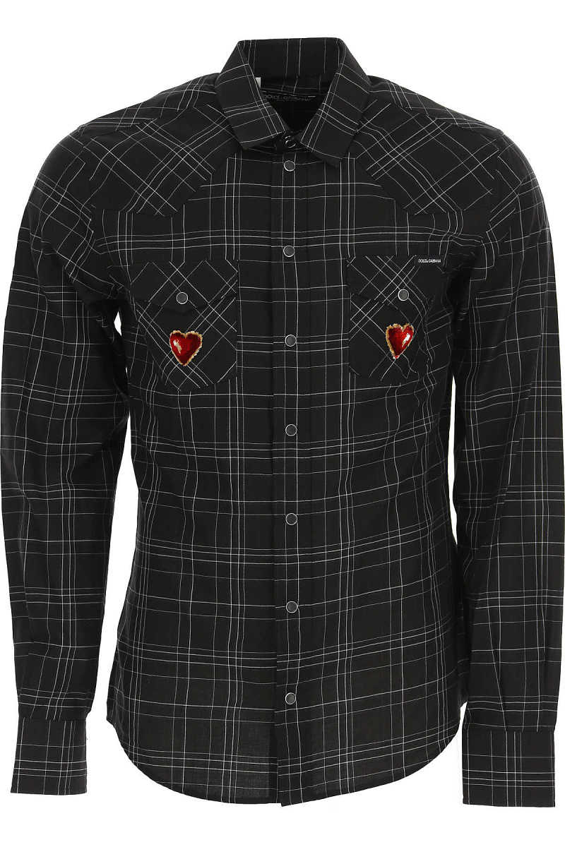 Dolce & Gabbana Shirt for Men On Sale in Outlet Black - GOOFASH