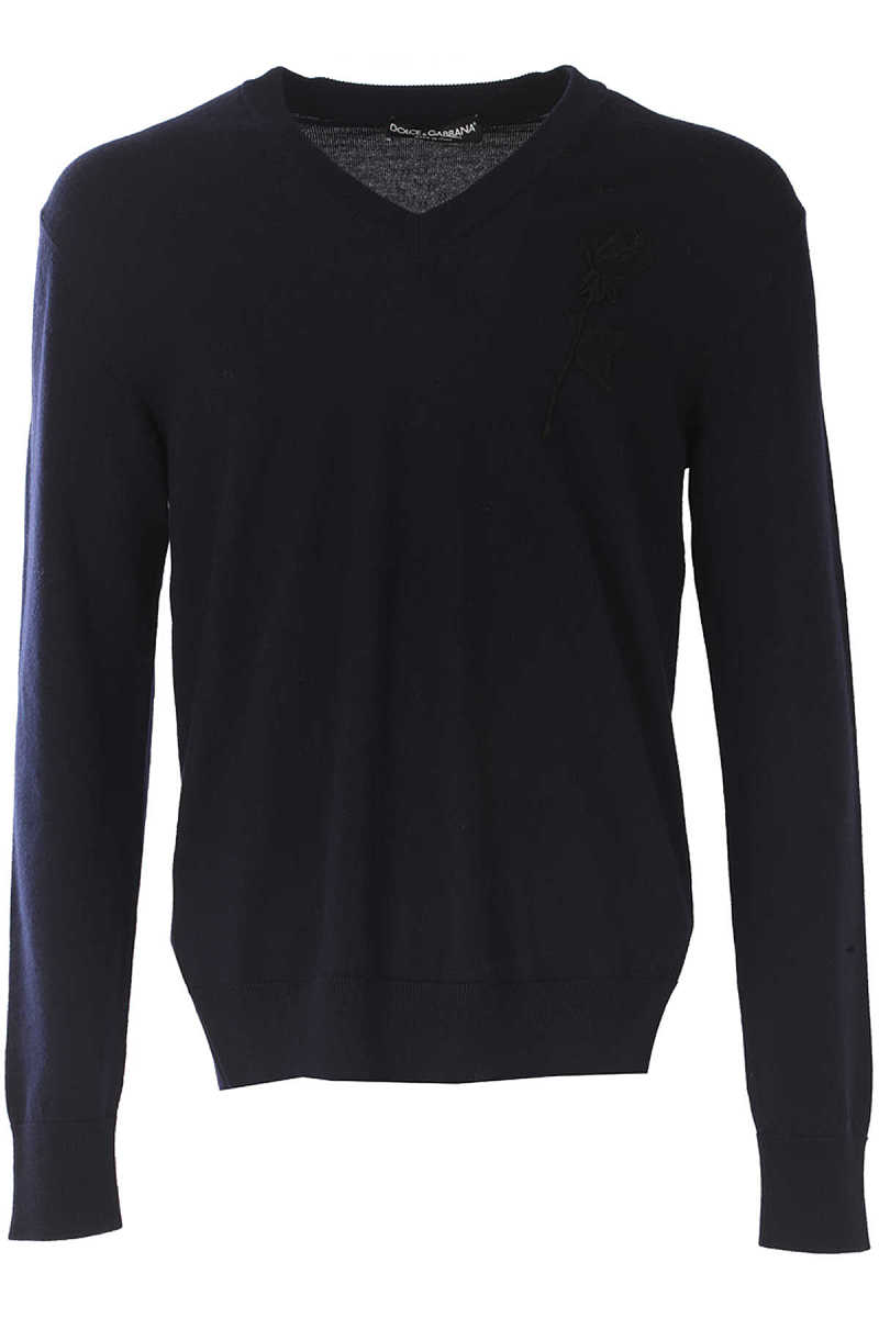 Dolce & Gabbana Sweater for Men Jumper On Sale in Outlet Midnight Blue - GOOFASH