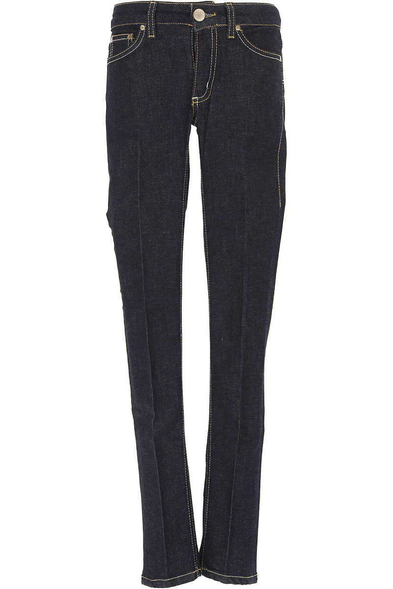 Dondup Kids Jeans for Girls On Sale in Outlet Blue UK - GOOFASH - Womens JEANS