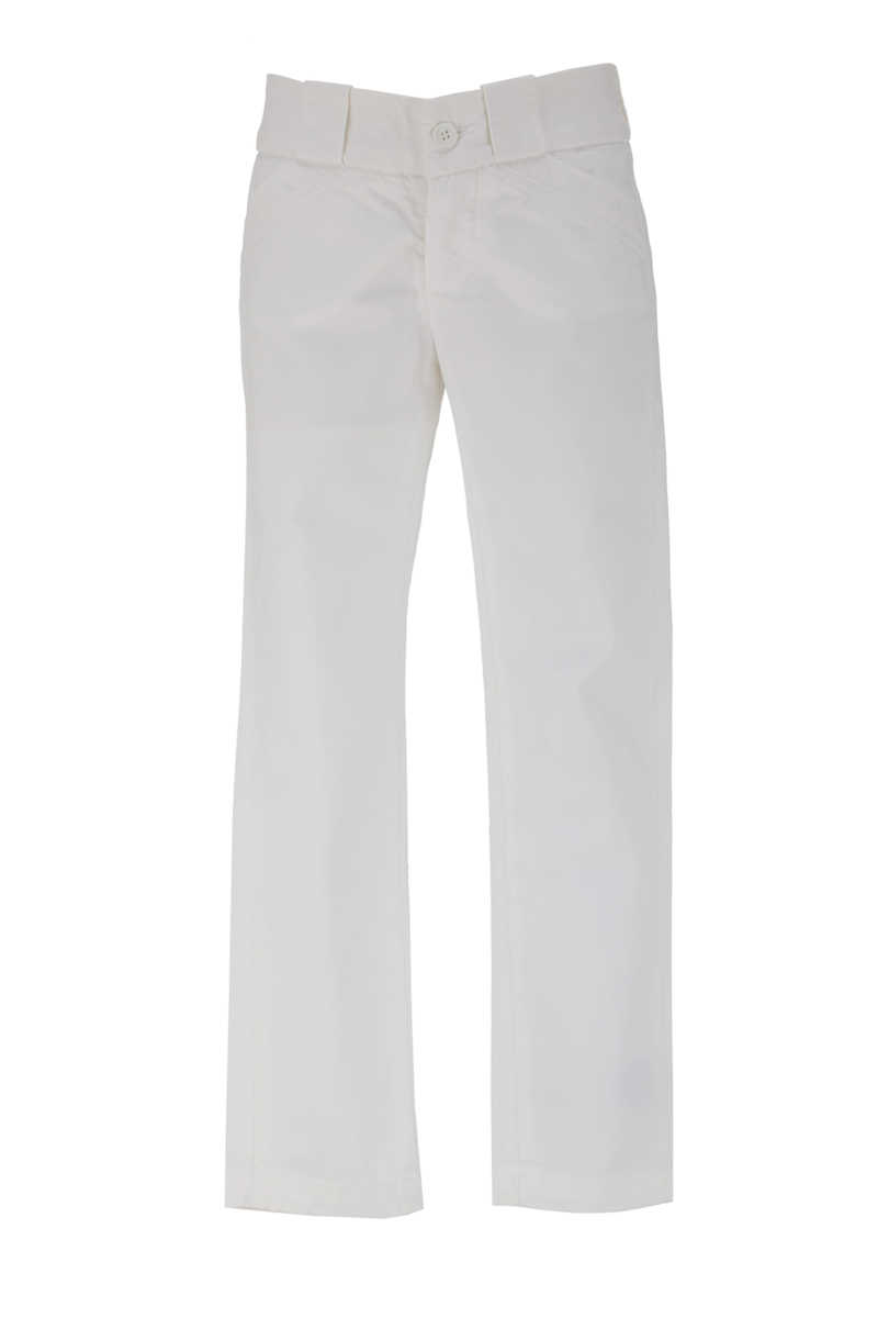 Dondup Kids Pants for Girls On Sale in Outlet White UK - GOOFASH - Womens TROUSERS