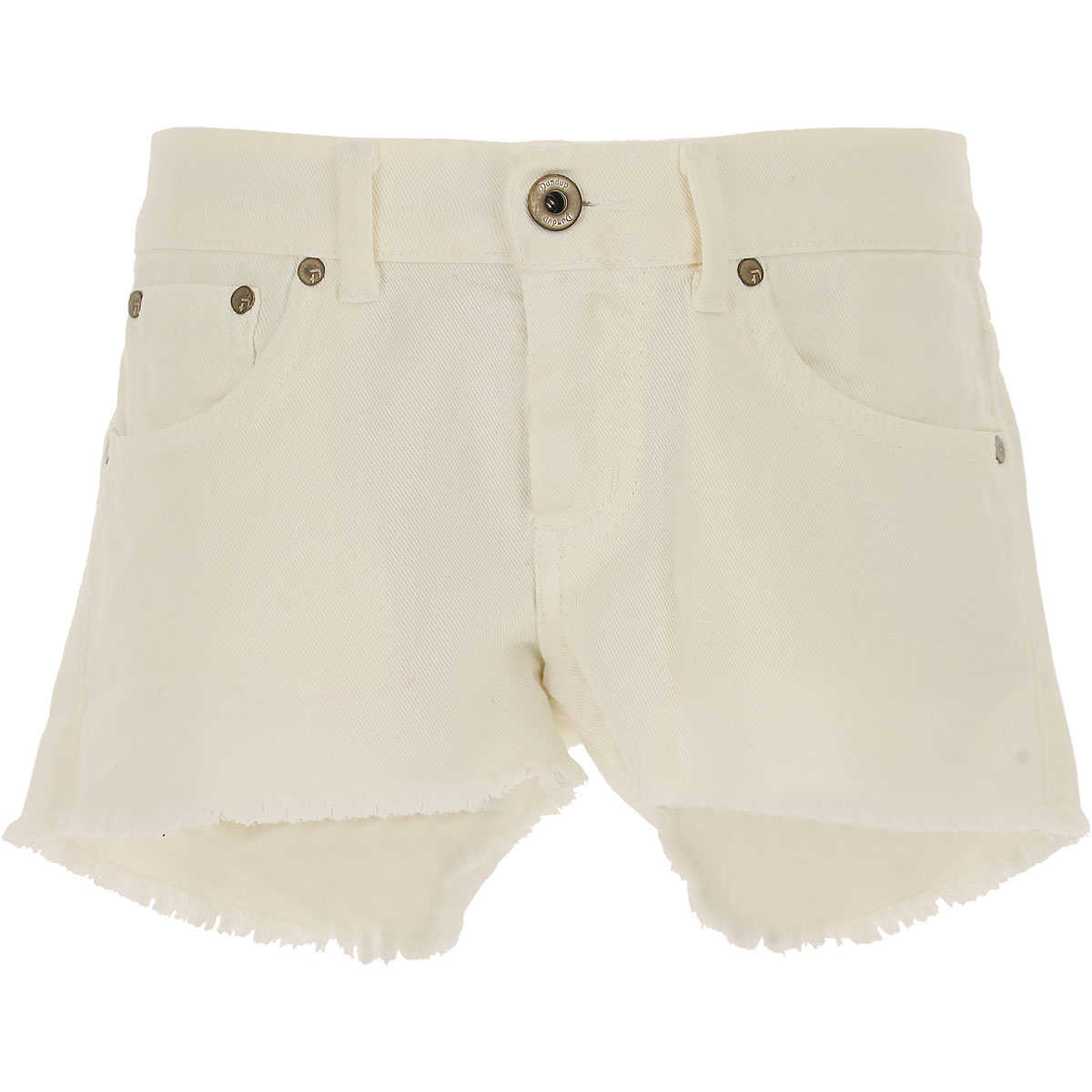 Dondup Kids Shorts for Girls On Sale in Outlet White - GOOFASH - Womens SHORTS