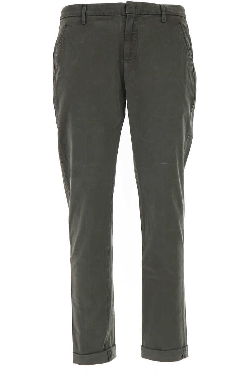 Dondup Pants for Men On Sale in Outlet Dark Military Green - GOOFASH