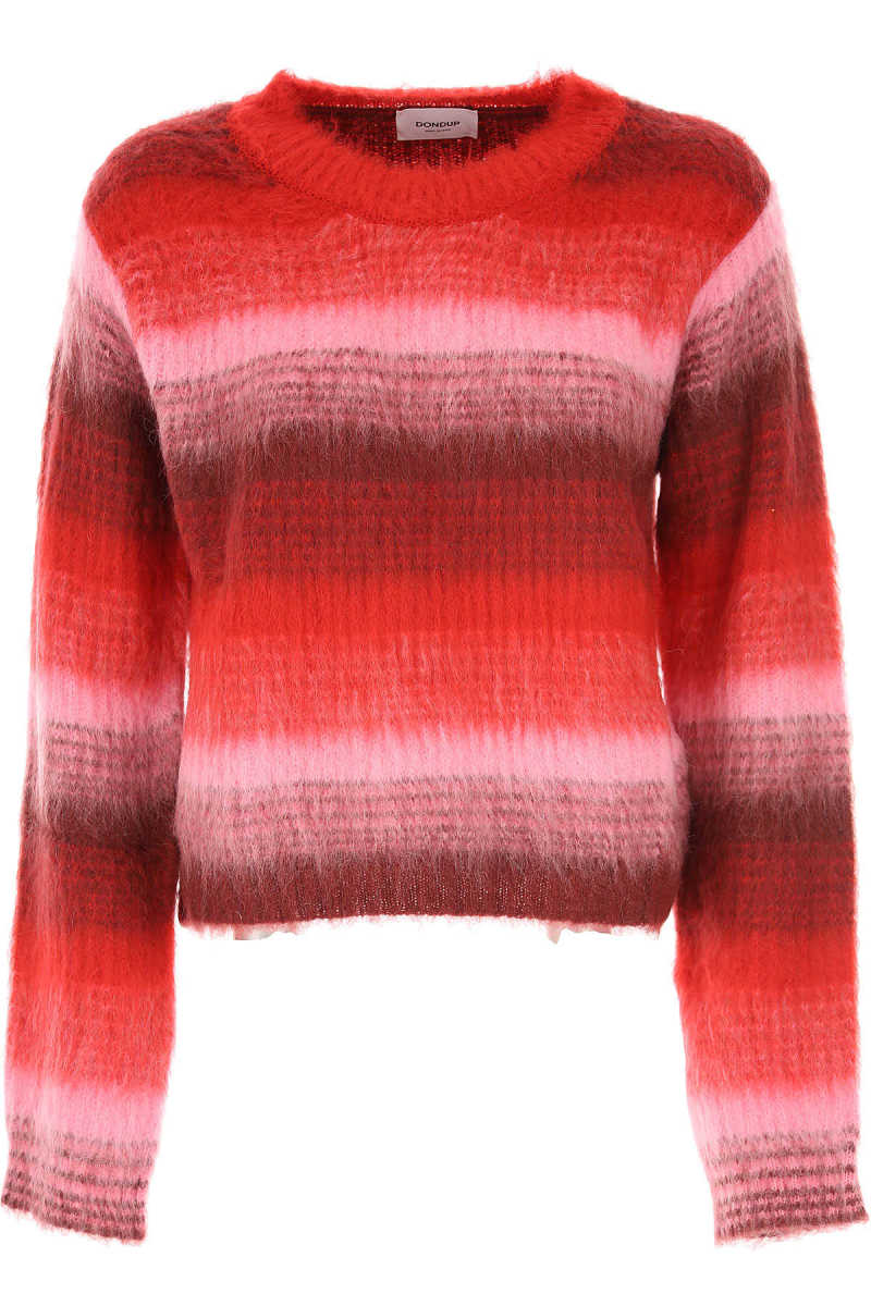 Dondup Sweater for Women Jumper On Sale Red - GOOFASH