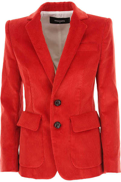 Dsquared2 Blazer for Women Fire Red UK - GOOFASH