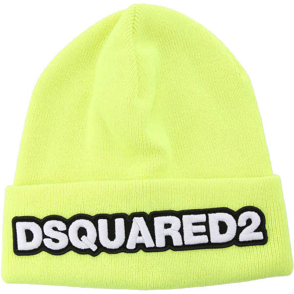 Dsquared2 Hat for Women fluo yellow UK - GOOFASH - Mens HATS