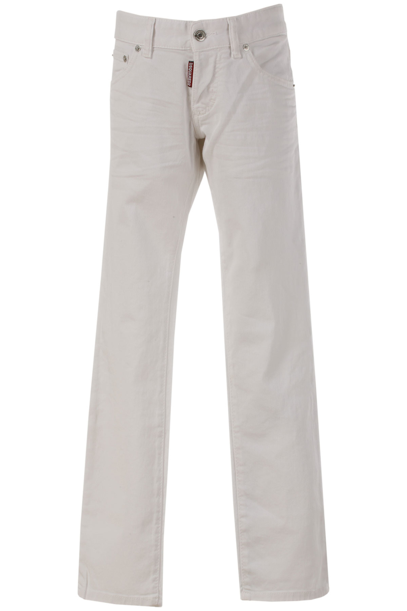 Dsquared2 Kids Jeans for Girls On Sale in Outlet White - GOOFASH - Womens JEANS