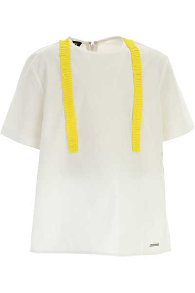 Dsquared2 Kids Shirts for Girls On Sale in Outlet White - GOOFASH - Womens SHIRTS