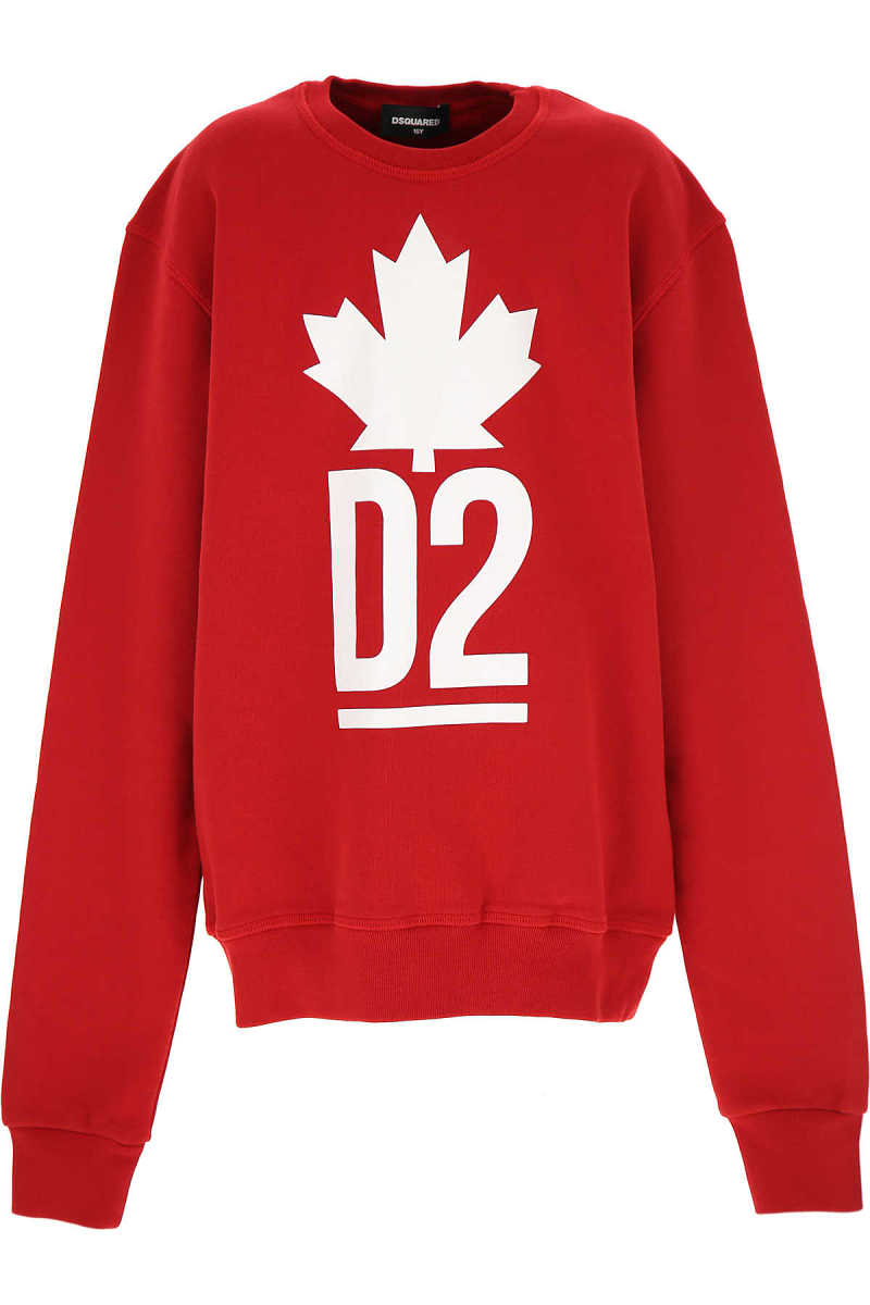 Dsquared2 Kids Sweatshirts & Hoodies for Boys Red UK - GOOFASH - Mens SWEATERS