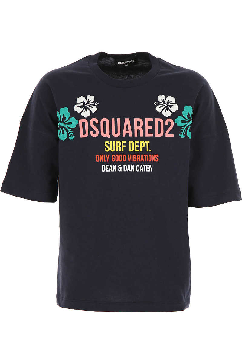 Dsquared2 Kids T-Shirt for Girls On Sale Black UK - GOOFASH - Womens T-SHIRTS