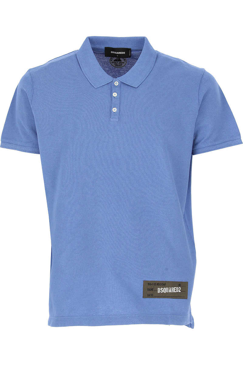 Dsquared2 Polo Shirt for Men On Sale Blue - GOOFASH