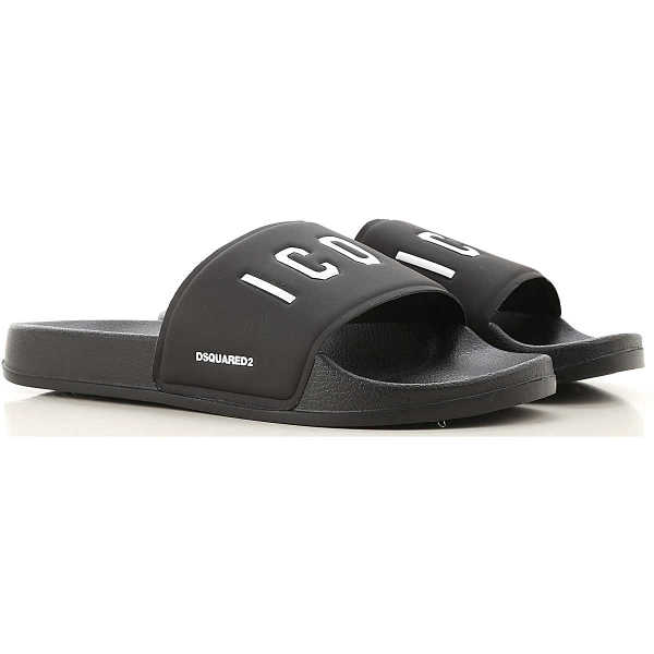 Dsquared2 Sandals On Sale Black UK - GOOFASH - Mens SANDALS