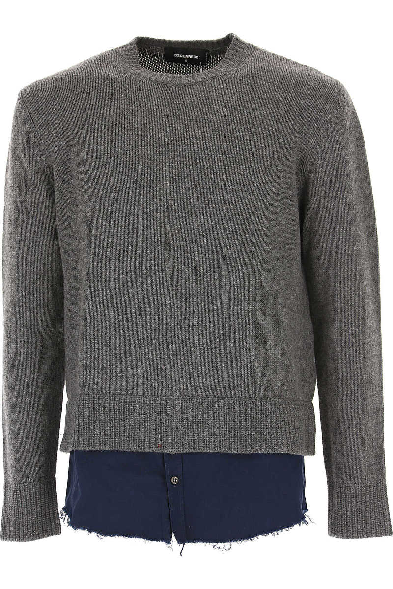 Dsquared2 Sweater for Men Jumper On Sale in Outlet Grey UK - GOOFASH - Mens SWEATERS