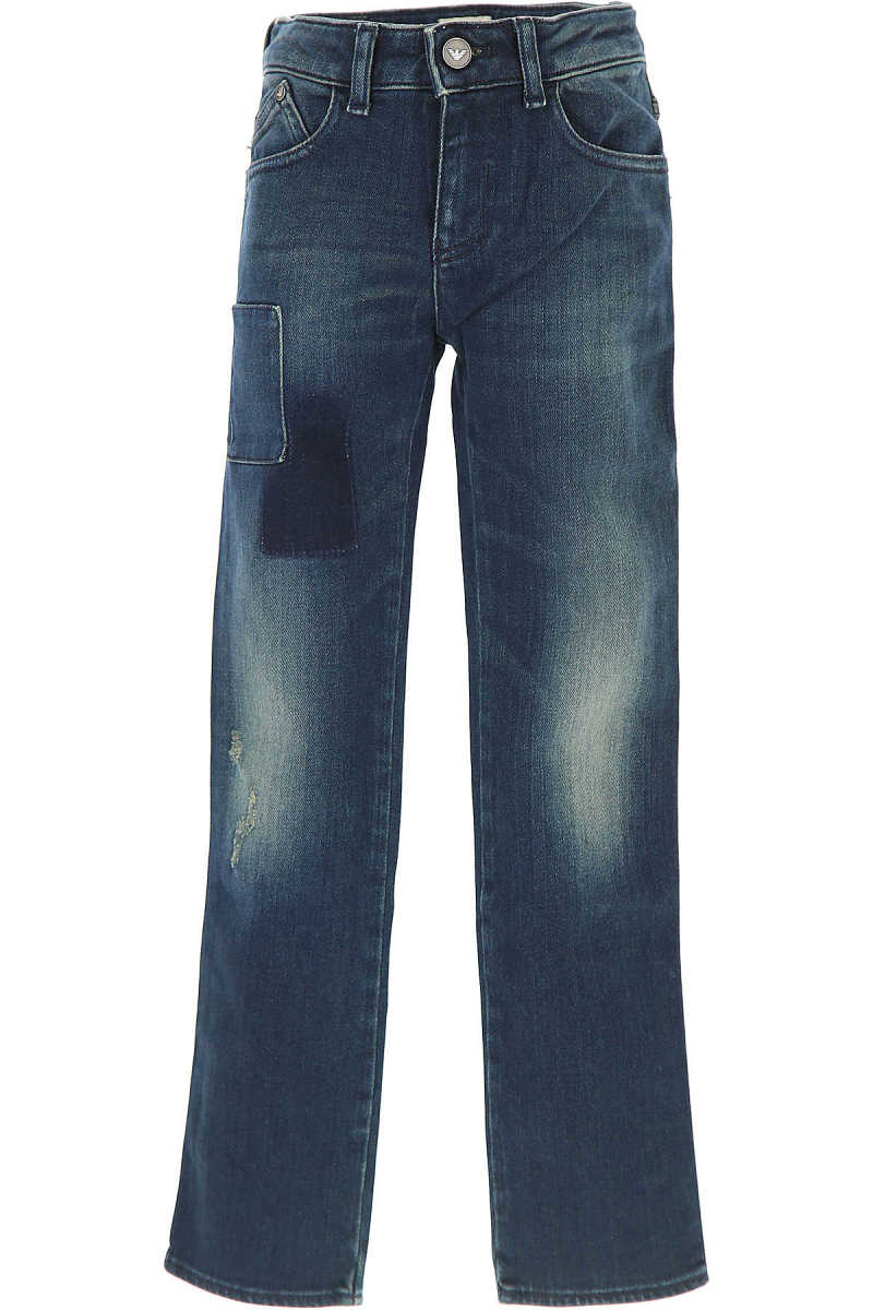 Emporio Armani Kids Jeans for Girls On Sale in Outlet Blue UK - GOOFASH - Womens JEANS