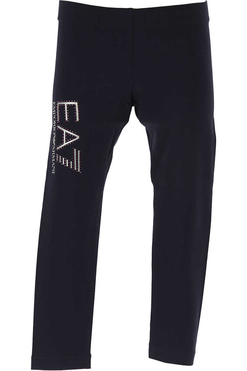 Emporio Armani Kids Pants for Girls On Sale in Outlet Blue Navy - GOOFASH - Womens TROUSERS