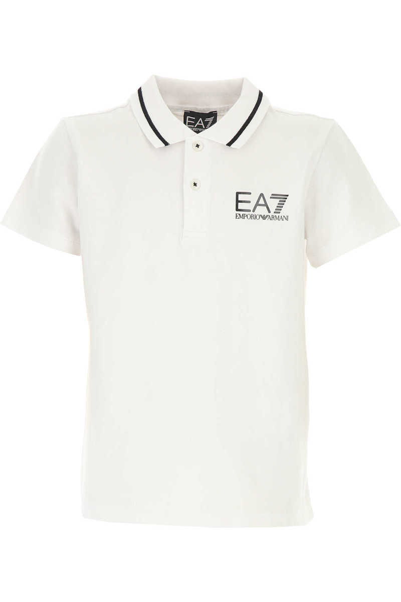 Emporio Armani Kids Polo Shirt for Boys On Sale White UK - GOOFASH - Mens POLOSHIRTS