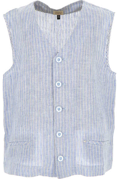 Emporio Armani Kids Shirts for Boys On Sale in Outlet Light Blue - GOOFASH - Mens SHIRTS