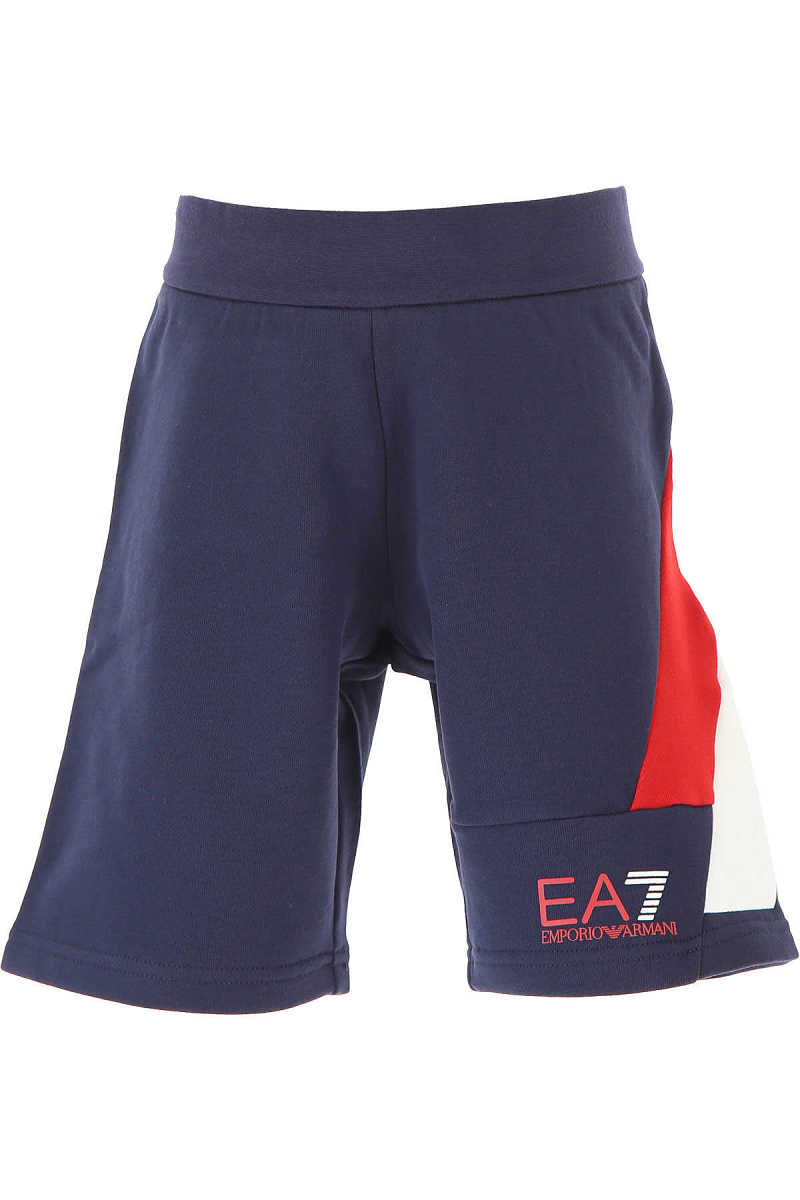 Emporio Armani Kids Shorts for Boys On Sale navy - GOOFASH - Mens SHORTS