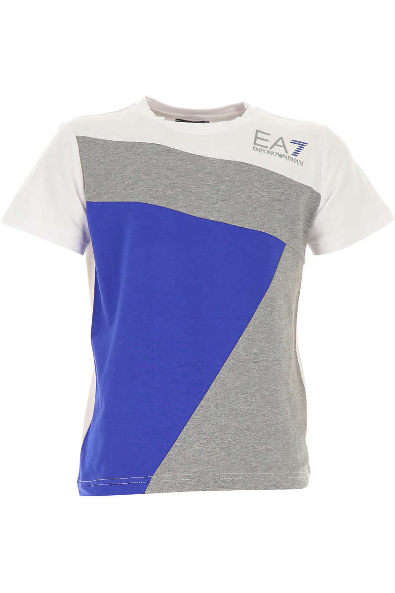 Emporio Armani Kids T-Shirt for Boys On Sale Grey UK - GOOFASH - Mens T-SHIRTS