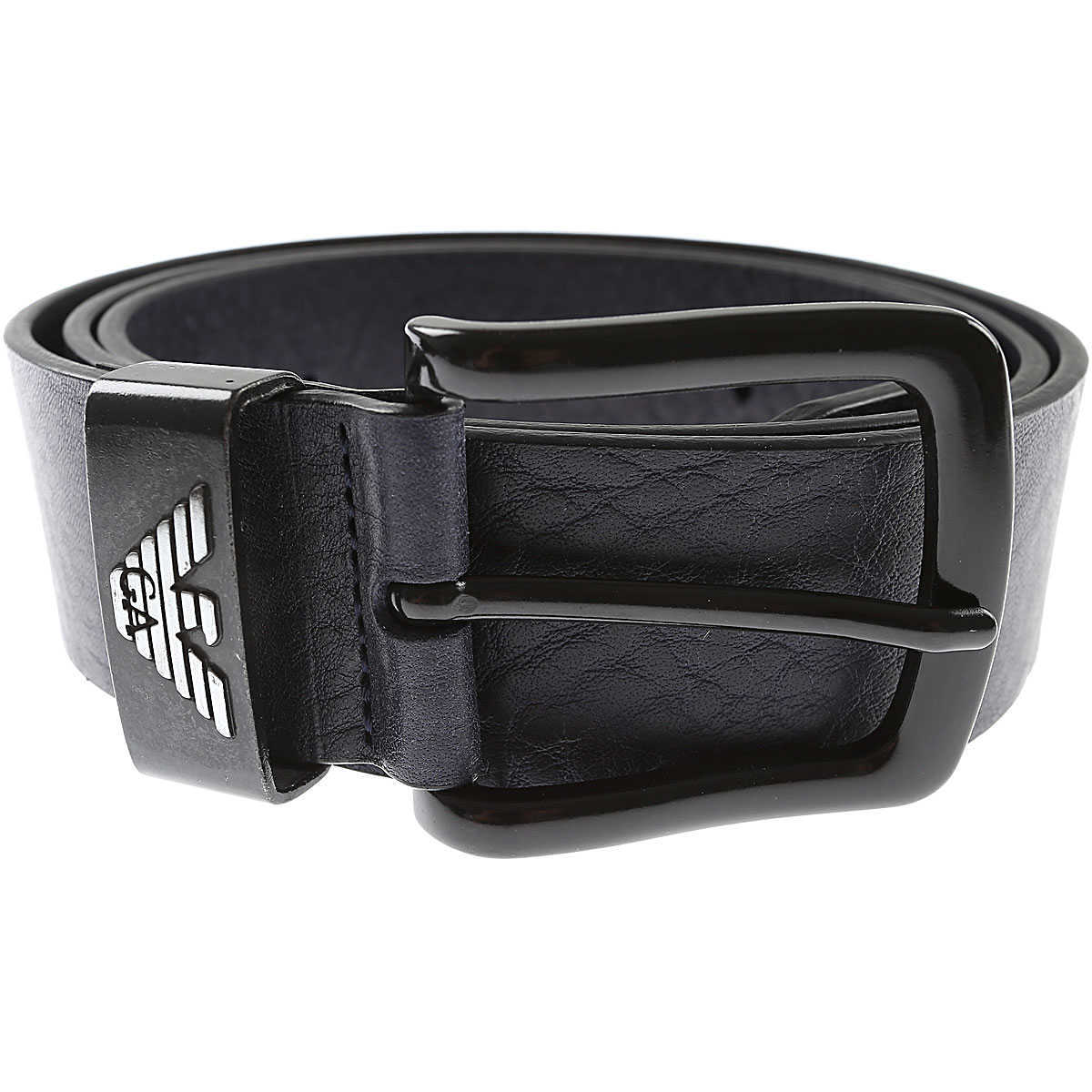 Emporio Armani Mens Belts Blue UK - GOOFASH