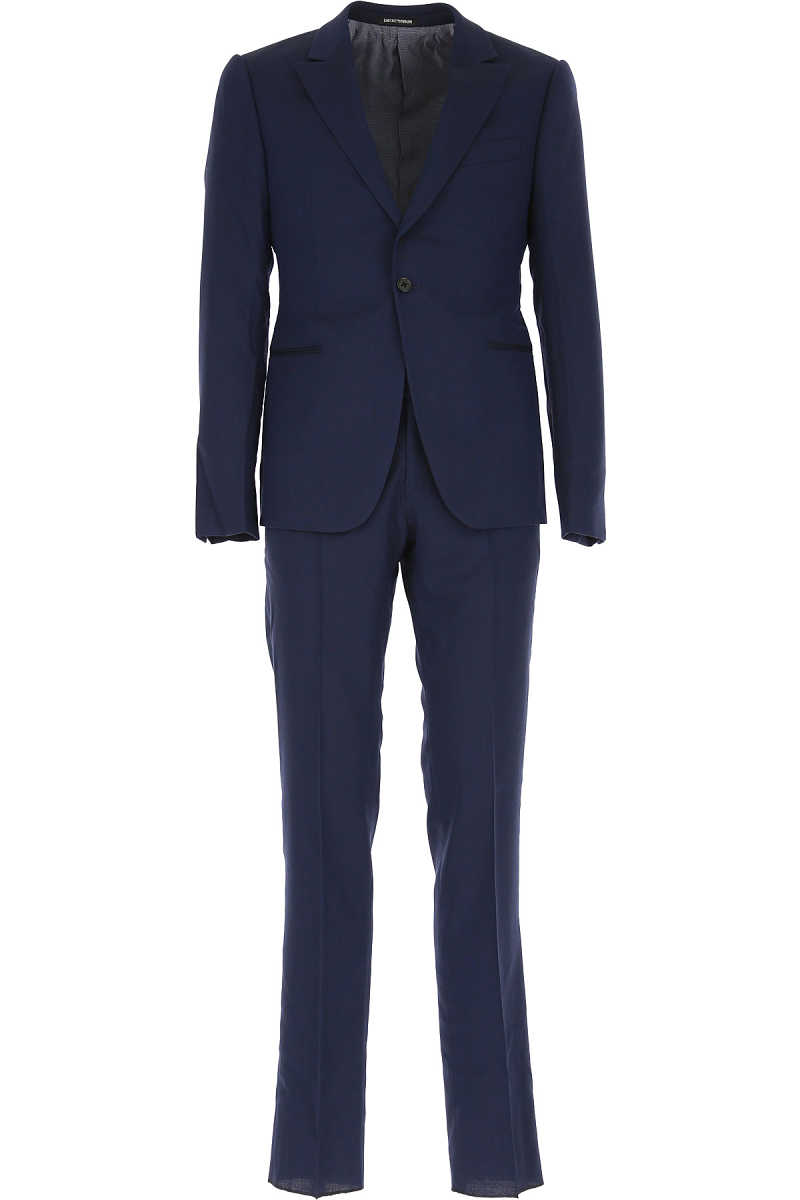 Emporio Armani Men's Suit Blue - GOOFASH