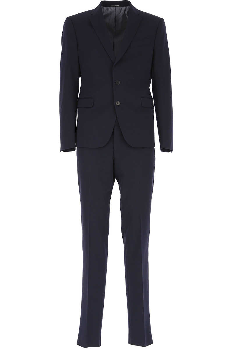 Emporio Armani Men's Suit Dark Midnight Blue - GOOFASH