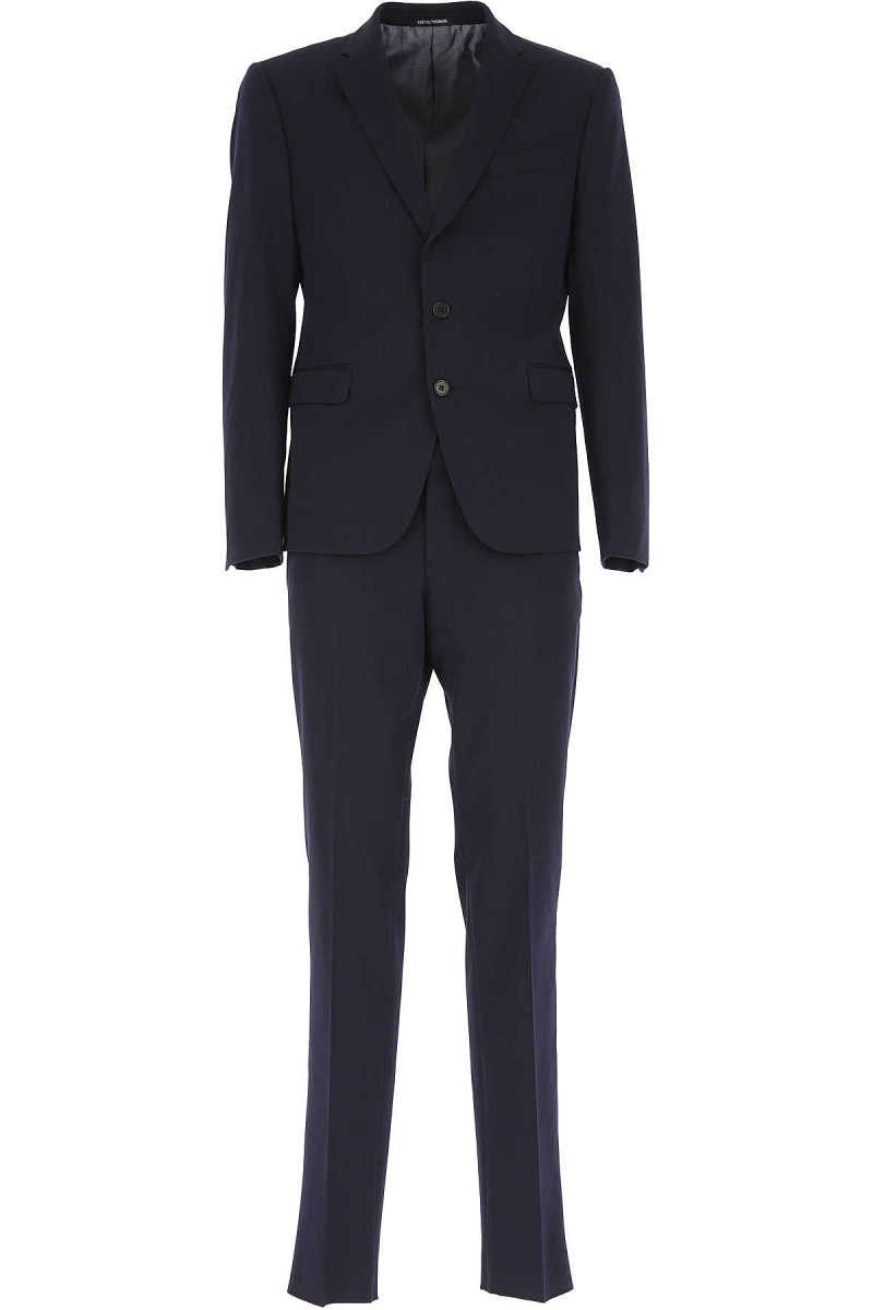 Emporio Armani Men's Suit Dark Midnight Blue UK - GOOFASH - Mens SUITS