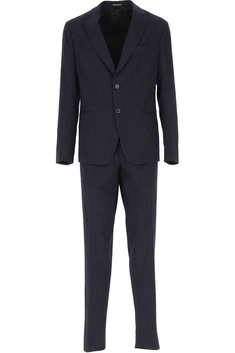 Emporio Armani Men's Suit Navy Blue - GOOFASH