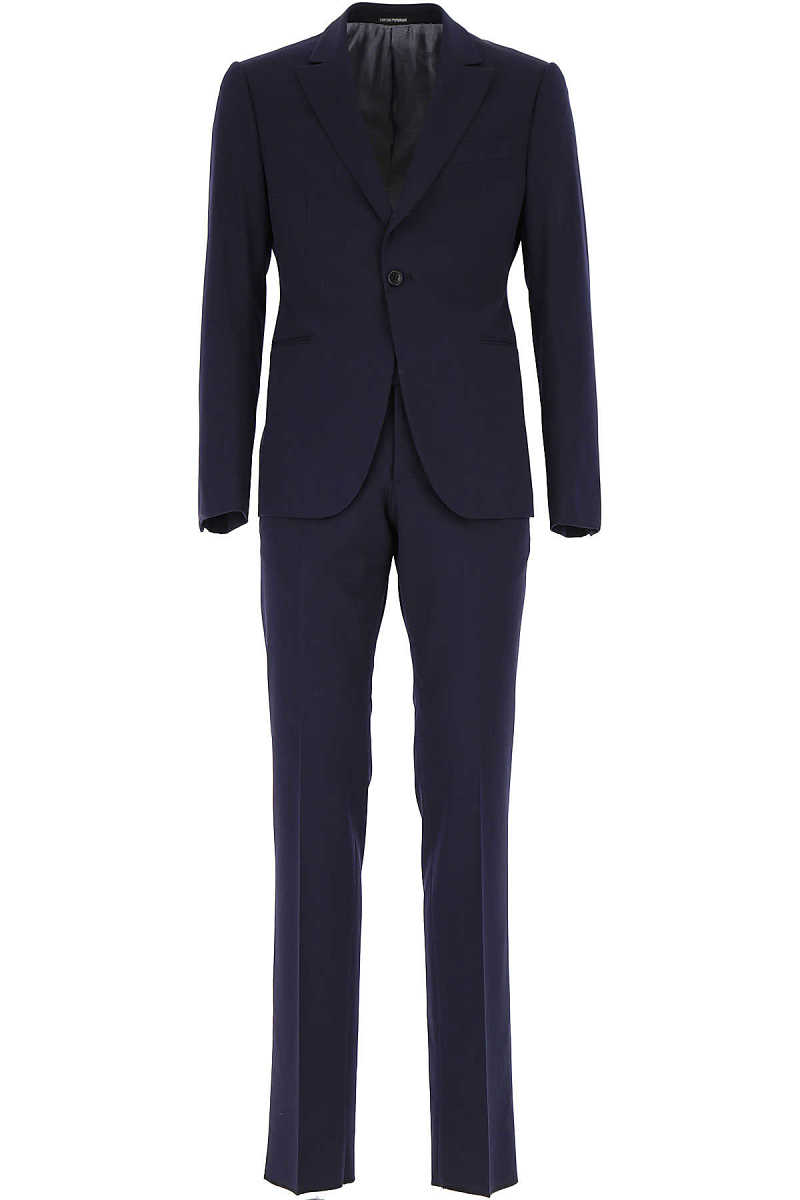 Emporio Armani Men's Suit On Sale Blue - GOOFASH